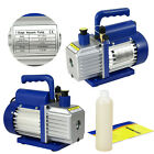 35CFM Rotary Vane Vacuum Pump Single Stage HVAC 1 4HP Air Conditioning A C Deep