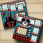 THEME PARK TRIP 2 premade scrapbook pages paper printed VACATION DIGISCRAP A0309