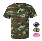 Mens 100 Cotton Camo Camouflage Tactical Hunting Short Sleeve Crewneck T Shirt