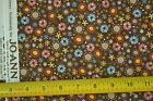 By the Half Yard 44 Calico on Dark Brown Quilters Cotton Heidi Grace C2518