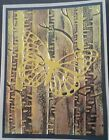Handmade Card Kit Stampin Up Papertrey gold butterfly