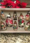 8 Vintage CHRISTMAS Tree ORNAMENTS Snowman MERCURY GLASS