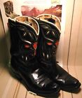ANTIQUE Kids ACME SHORTY COWBOY BOOTS with CUTOUTS  Square Toes MAKE OFFER
