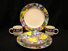 Suzanne by Vitromaster 2 DINNER PLATES / 2 SALAD PLATES  / 2 CUPS  SET