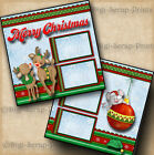 MERRY CHRISTMAS 2 premade scrapbook pages paper piecing LAYOUT BY DIGISCRAP
