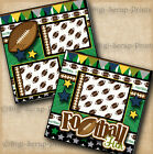 FOOTBALL BOY SPORTS 2 premade scrapbook pages paper piecing LAYOUT DIGISCRAP