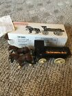 Ertl Conoco 1990 1875 Tank wagon Horse Wagon coin bank Continental Oil W/box vtg