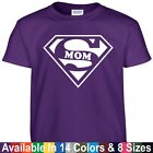 SUPER MOM Funny Wife Mothers Day Birthday Christmas Shower Gift Tee T Shirt