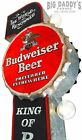 Large Budweiser Beer Marquee Metal Sign W LED Lights Wall Decor Man Cave Bar
