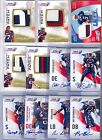 (132) 2012 UPPER DECK USA FOOTBALL AUTO PATCH JERSEY ROOKIE RC CARD LOT