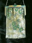 Antique Vintage Whiting and Davis Mesh Bag Elegant Evening Purse Silver Purse