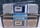 VINTAGE SANYO M-R 88 BOOMBOX WITH MICRO-CASSETTE PLAYER  RARE!