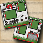 SOCCER 2 premade scrapbook pages paper piecing BOY GIRL LAYOUT BY DIGISCRAP