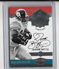 JEROME BETTIS PANINI PLATES & PATCHES HALL OF FAME AUTOGRAPH #10 25 -STEELERS!!