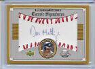 2002 02 UD SWEET SPOT CLASSIC DON MATTINGLY SIGNATURES AUTO ON BALL