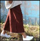 Vintage Womens 100 Linen Spring Loose Trousers Wide Leg Ninth Casual Pants SIZE