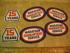 Vintage 4 Marathon Guaranteed Service and 2) 12 Year Uniform Patches Gas Station