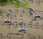 Jewelry Making Cute Deer Alloy Charm Pendant Diy 25x15mm