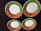 Set of 4 FITZ & FLOYD HOLLY WREATH 7 1/2