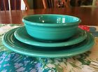 Three Piece Fiestaware Turquoise Place Setting Excellent Condition 1988-Present
