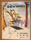 Calvin and Hobbes The Downhill Winter Poster by Steve Thomas Screen Print Art