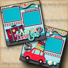 ARE WE THERE YET travel vacation 2 premade scrapbook pages paper BY DIGISCRAP
