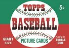 1952 Topps Wax Pack Wrapper Store Counter Standup Sign Repro Mantle Rookie