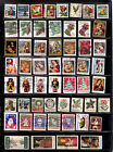117 Different Christmas Postage Stamps Contemporary Traditional US Used