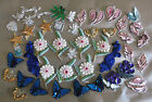 LOT OF 46 BEADED SEQUIN APPLIQUES MOTIFS SEWING EMBELLISHMENT FLOWERS BUTTERFLYS