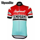Cycling Jersey Red Blue Geminiani Clothing Italy Tours Bike Team Jerseys Vintage