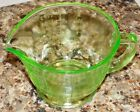 Vintage Green Uranium Vaseline Glass Reamer 2 Cup Measuring DEPRESSION ERA RARE