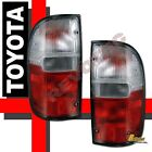 Red Clear Tail Lights Lamps RH + LH For 95 00 Toyota Tacoma Pickup Truck