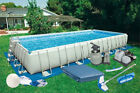 12X24X52 Rectangular Ultra Frame Pool Complete Kit W Sand System 28365EH