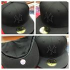 Authentic all black New York Yankees Fitted by New Era
