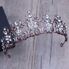 Antique Copper Flower Crystal Wedding Bridal Party Pageant Prom Crown Tiara