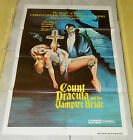 original COUNT DRACULA AND HIS VAMPIRE BRIDE one sheet poster Christopher Lee