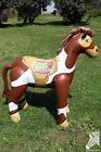 Inflatable 2010 VBS Pony Horse 57 in Pinto Paint Brown White Blow Up Decoration