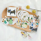 45pcs lot DIY Cute Kawaii Cat Rabbit Fox Sticker Lovely Animal Diary Stickers
