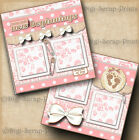 BABY GIRL 2 premade scrapbook pages layout print paper piecing DIGISCRAP A0061