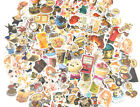 NEW Cartoon Anime Nature Cat Flowers Coffee Fashion Food Sticker lot Die cuts
