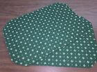 Set Of 2 Longaberger Retired Fabric Placemats Heritage Green Excellent