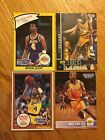 LOS ANGELES LAKERS STARTING LINEUP CARD LOT KOBE BRYANT BYRON SCOTT VAN EXEL