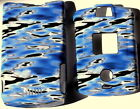 blue WATER Motorola V3 V3c v3m RAZR phone Faceplate Cover case hard SNAP ON