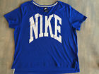 Nike Womens Casual Shirt Loose Fit Relaxed Size Large Blue