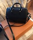 LOUIS VUITTON BLACK LEATHER SPEEDY 25 BOUDOULIERE BAG NEARLY NEW SS 2017
