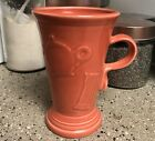 Fiesta Persimmon Retired Pedestal Latte Mug Fiestaware Cappuccino Coffee Orange