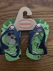 Havaianas Baby Boys Flip Flop Blue Green Sandals Monkey Size 5 New
