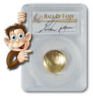 2014-W $5 Gold Baseball Coin - Nolan Ryan Hand-Signed Label - PCGS MS70