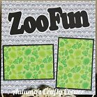 ZOO FUN Basic Premade Scrapbook Page 12x12 Layout for Album 1748