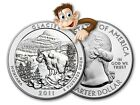 2011 5 oz Silver America The Beautiful Glacier Park MT Bullion Issue